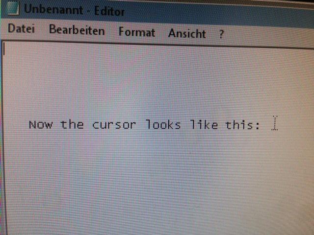 Cursor Problem