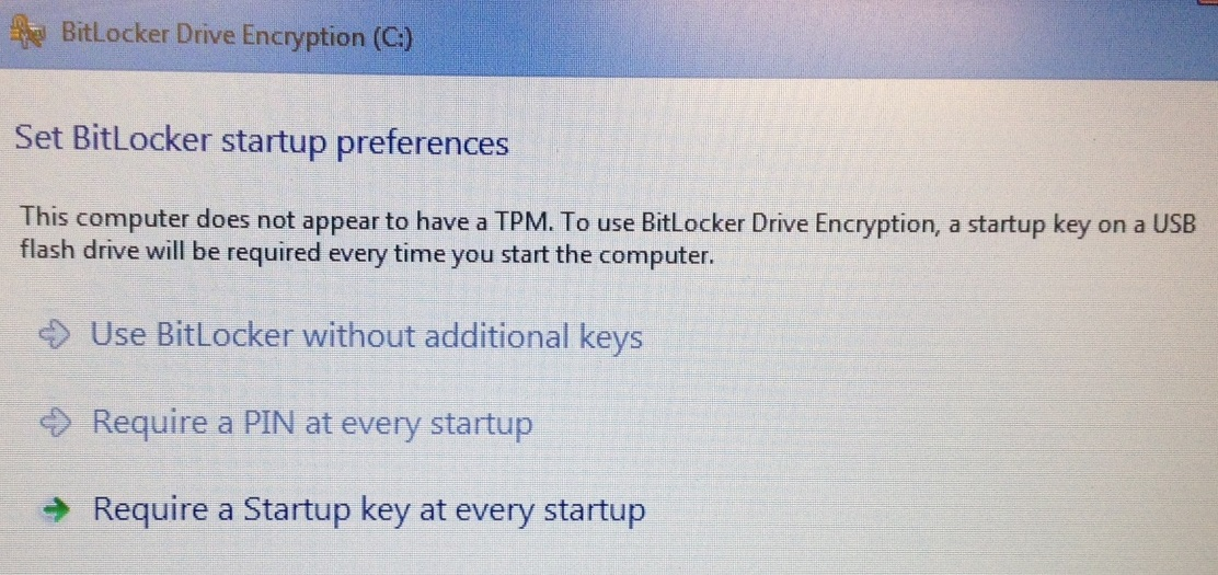 Solved: BitLocker Encryption - TPM Not Found 2540p - HP