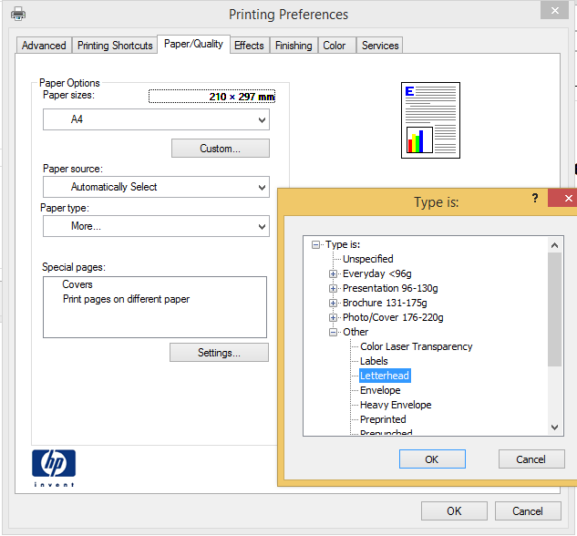 how to change to default system printer