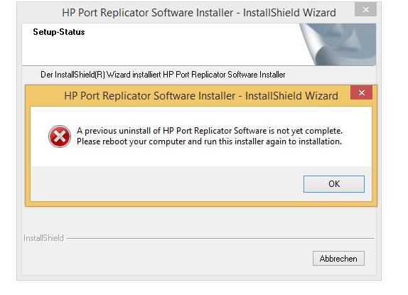Port Replicator PR Install Error - HP Support Community