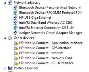 HP lt4211 Gobi 4G NMEA XP