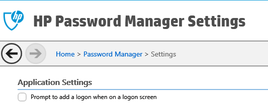 hp password manager extension