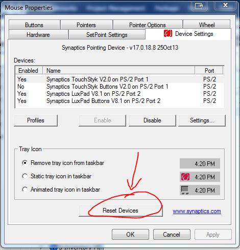 HP Elitebook 840 G1 Luxpad not working but TouchStyk works - HP