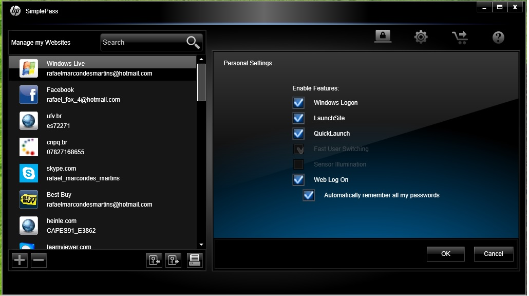 Biometric Device / Hp Simplepass / Windows 8.1 / NOT ...