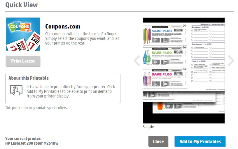 find coupons by zip code