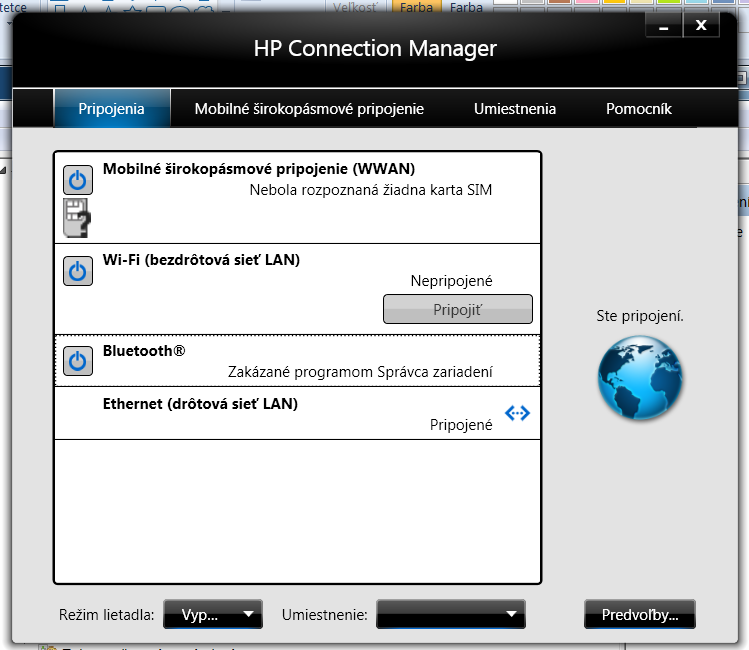 Bluetooth is showed as disabled by device manager in Connect    - HP
