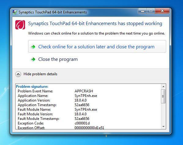 Synaptics Touchpad Driver Windows 7 64 Bit