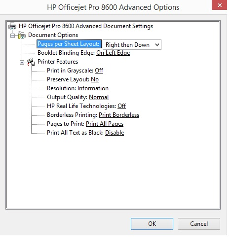 Then Settings In Word 2323 Printer Propeties