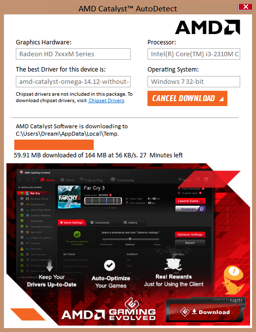 amd graphics driver for windows 7 32 bit download