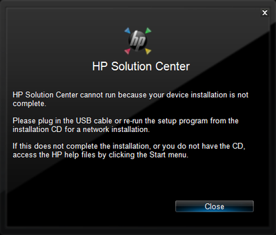 HP Solution Center msg-install not complete.png