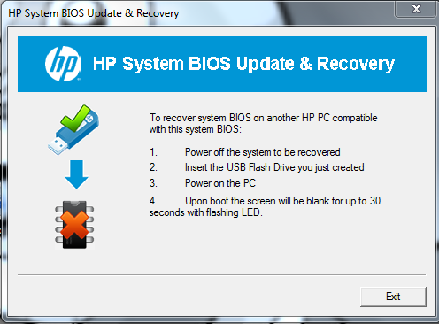how to update bios from another computer