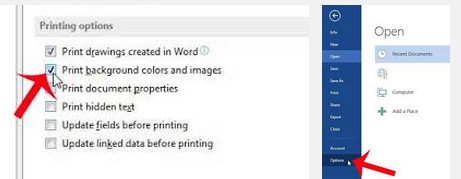 My HP1510 Wont Give Option To Print Colour