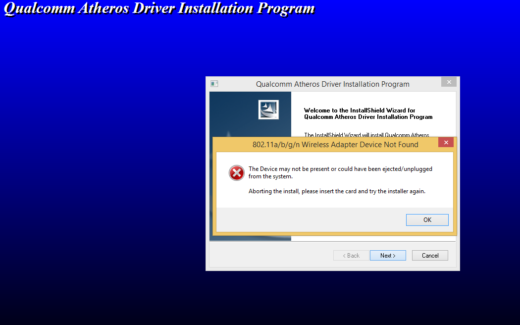 qualcomm atheros wireless drivers windows 7