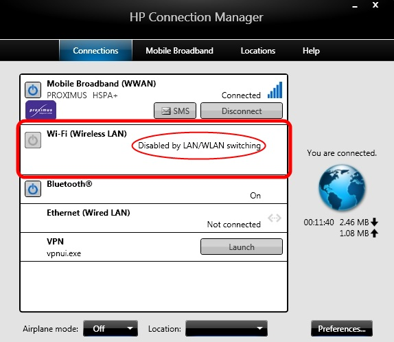 Solved Wifi Disabled By Lan Wan Switching Hp 8470p How