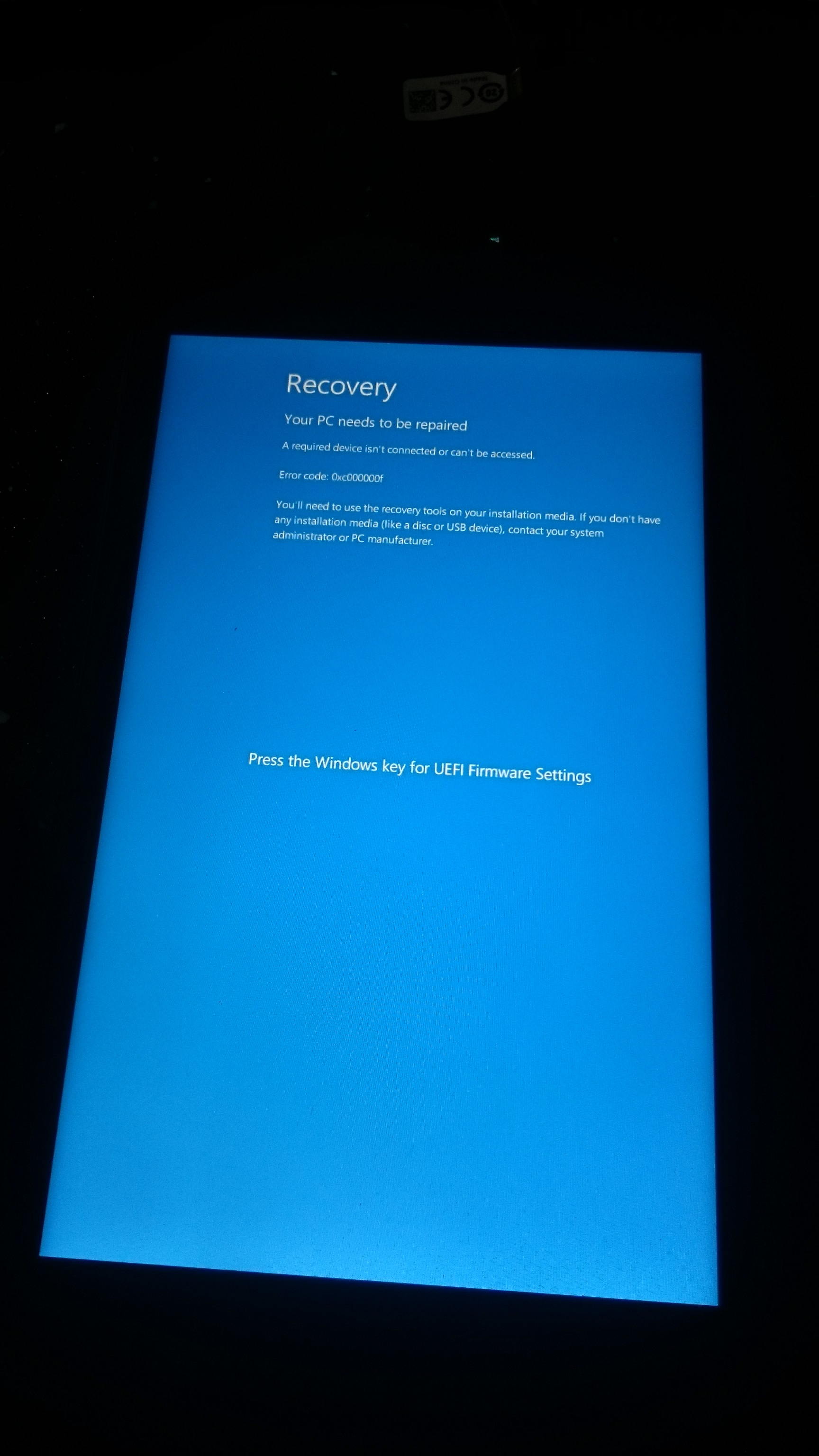 Solved: HP Stream 7-Windows 10 doesn't boot, I can't