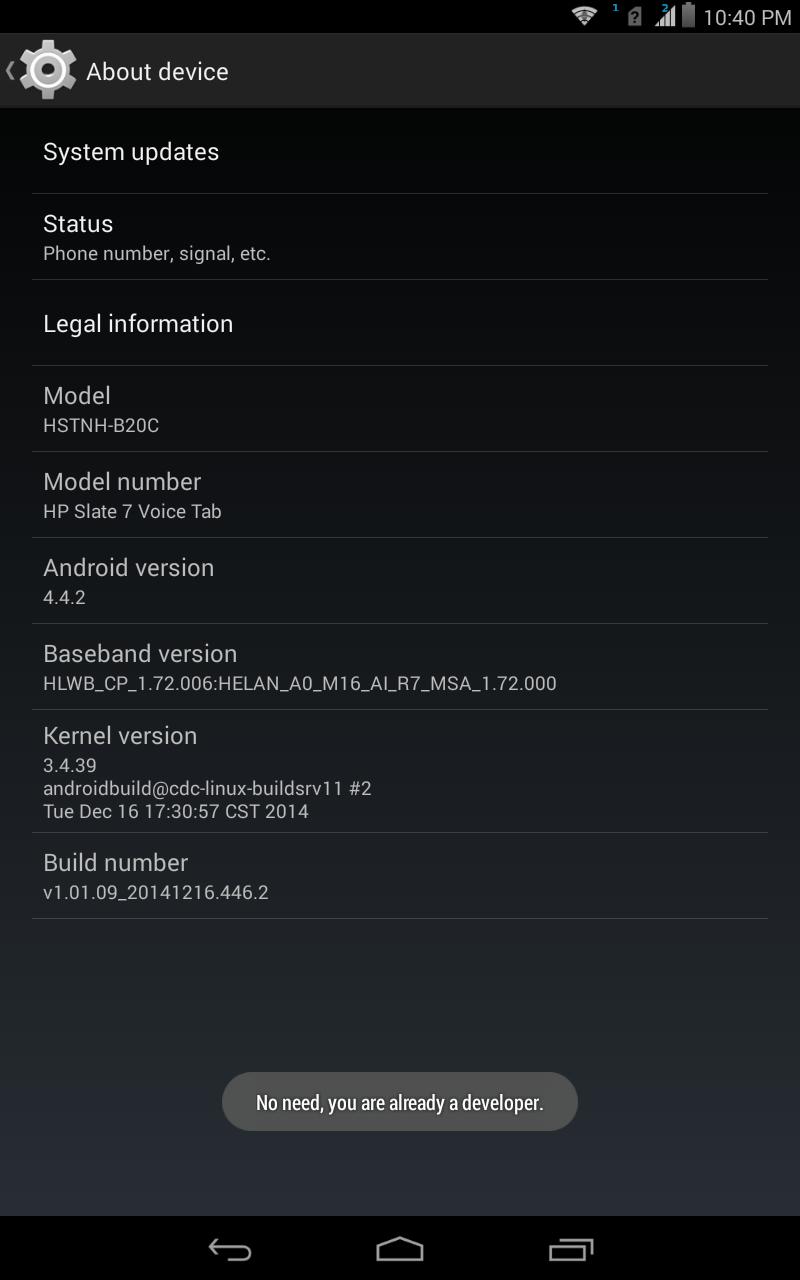 Hp slate 7 plus update zip