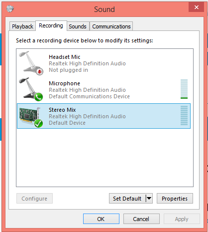 Can't hear Sound from Audio Mixer in Google Hangout: HP Note