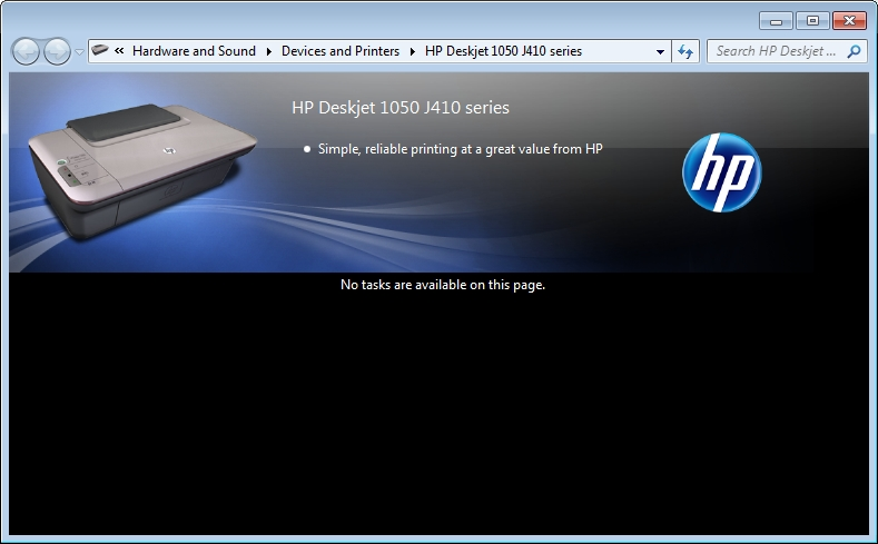Fine Deskjet 1050 No Tasks Are Available On This Page Hp Beutiful Home Inspiration Aditmahrainfo