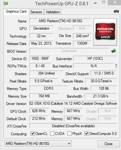 amd dual graphics - HP Support Community - 5013262