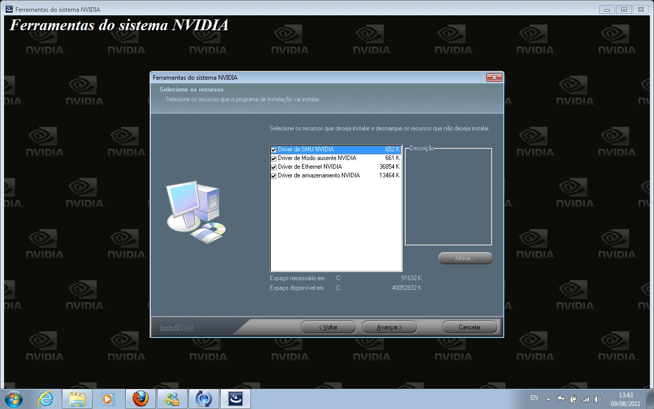 Baixar e instalar o driver nvidia geforce 7025/6600 win 10/8. 1/7.