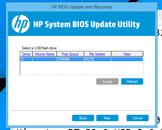 Solved: How to update bios and uefi without a hard drive - HP
