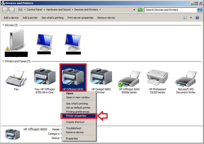under the printer properties window select the advanced tab