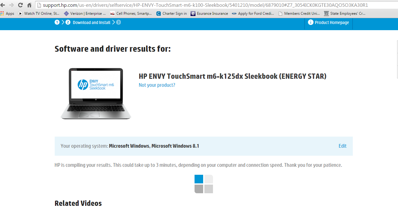 Can't download drivers hp envy touchsmart m6-k125dx!!!!!! He    - HP