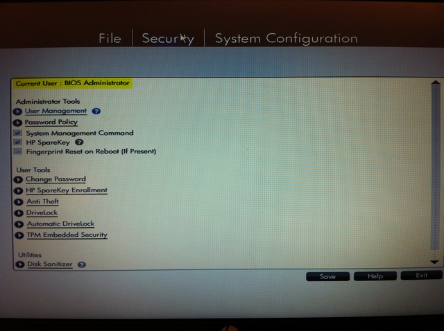 how to remove hp drive encryption password