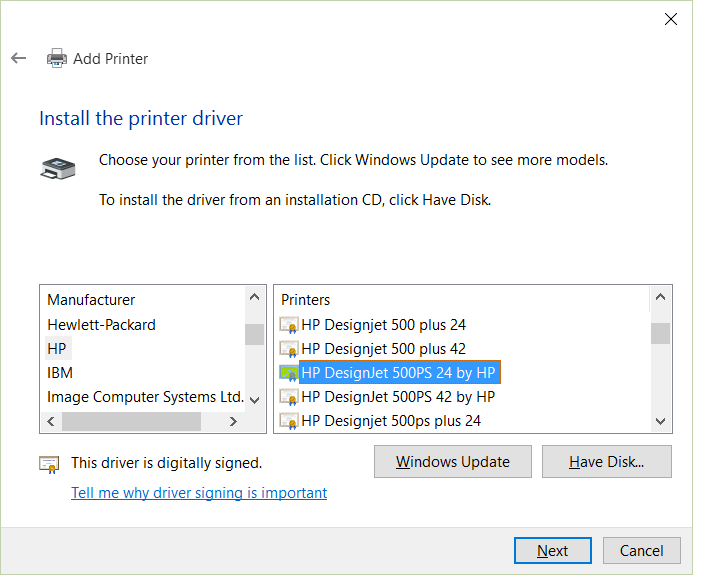 Hp deskjet 500c printer driver for windows 10.