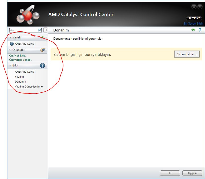 Catalyst control center not showing majority of functions hp.