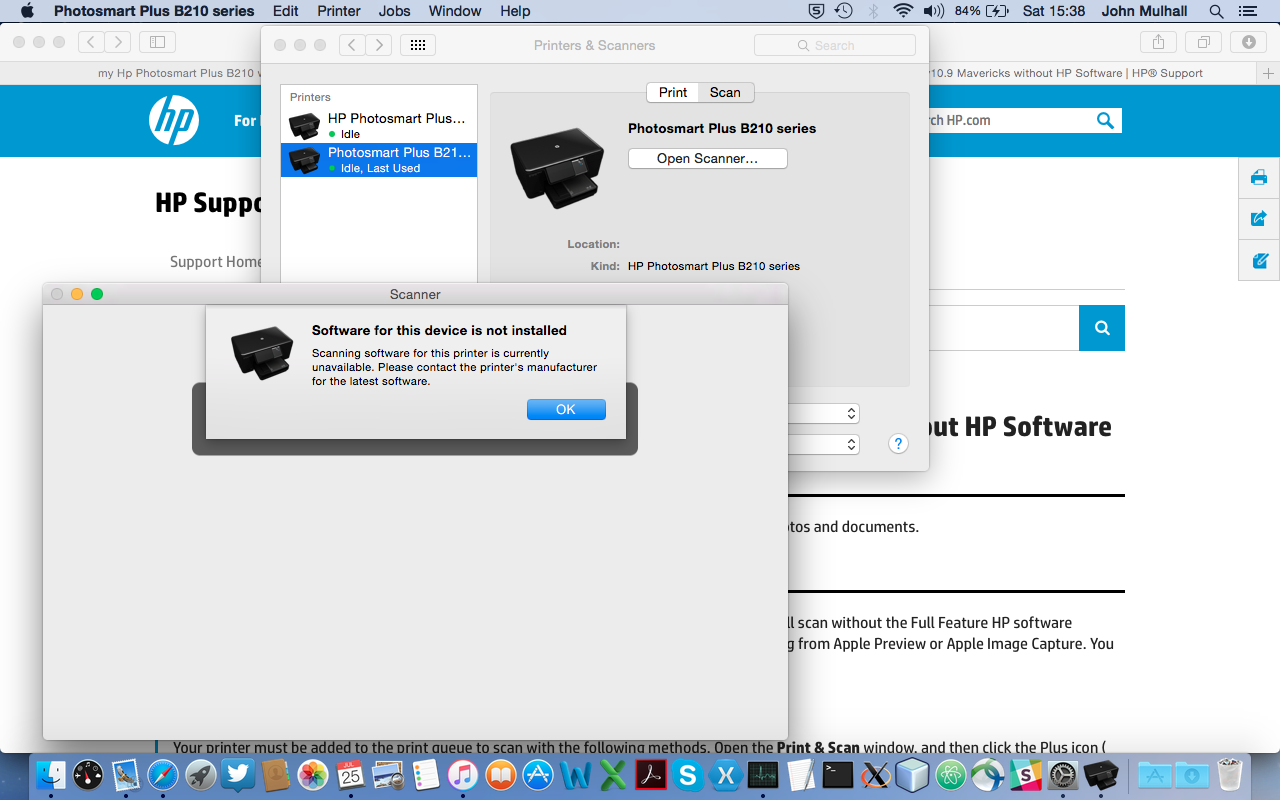 hp photosmart b210 mac install