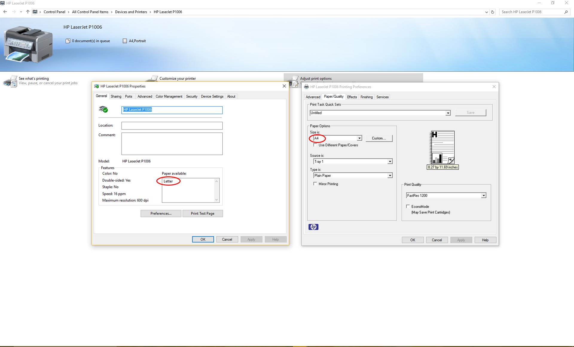 Color printing in windows 10 - Screenshot
