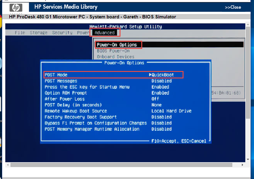 BIOS ACCESS to disable quick boot - HP Support Community - 5231690