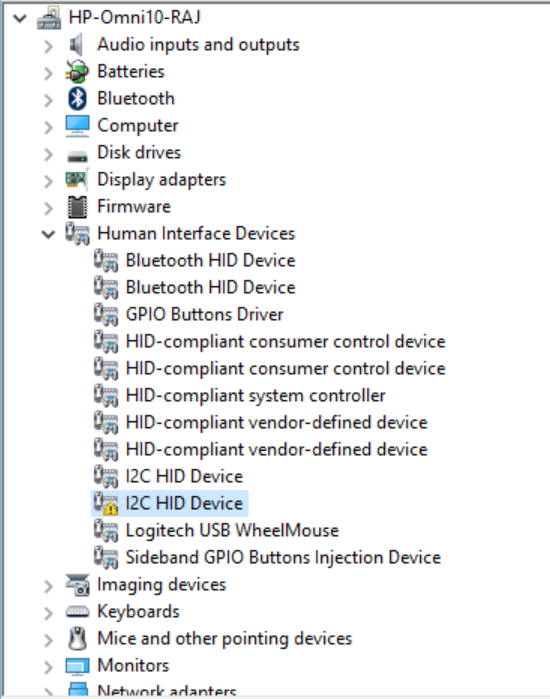 HID - Compliant Touch Screen (Driver Missing) - HP Support Community