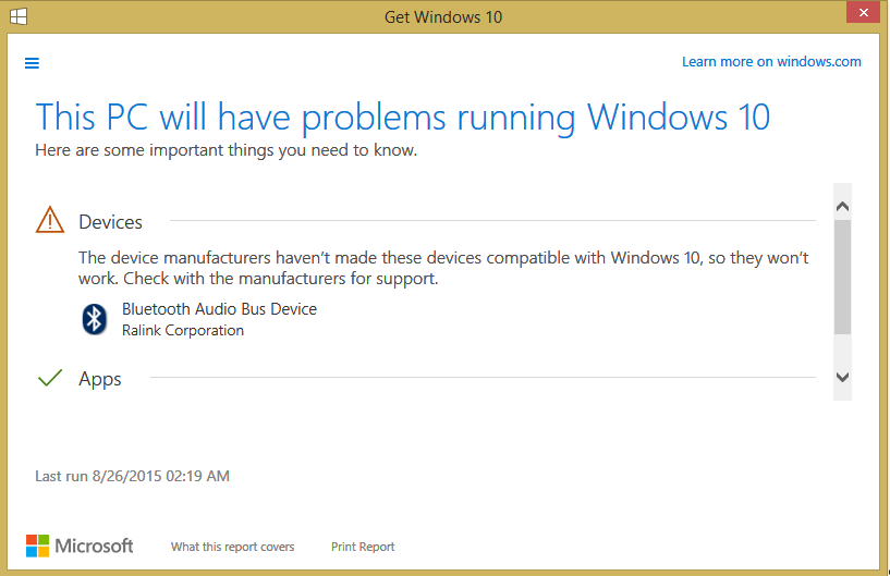 windows 10 driver compatibility issues