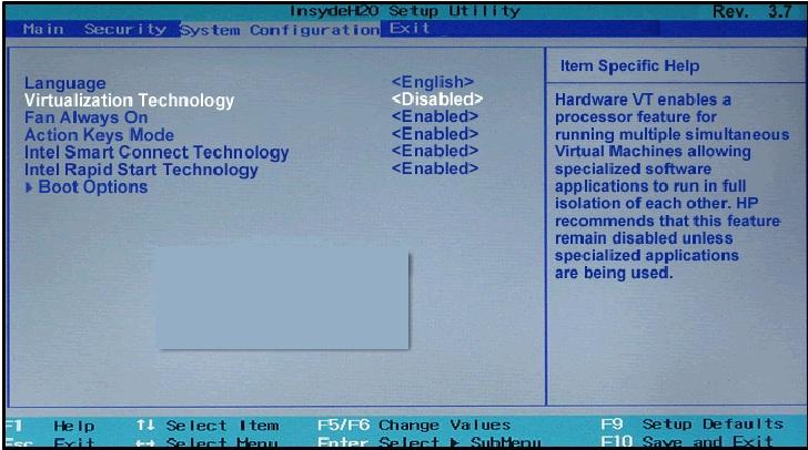 Unlock Hidden Advanced settings in BIOS - HP Support