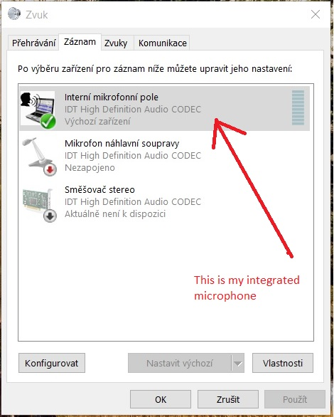 microphone drivers windows 10