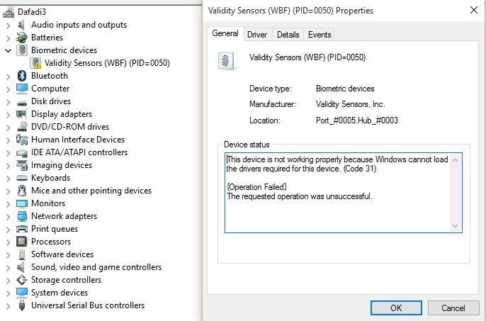 Windows 10 Fingerprint Reader Not Working - HP Support Community