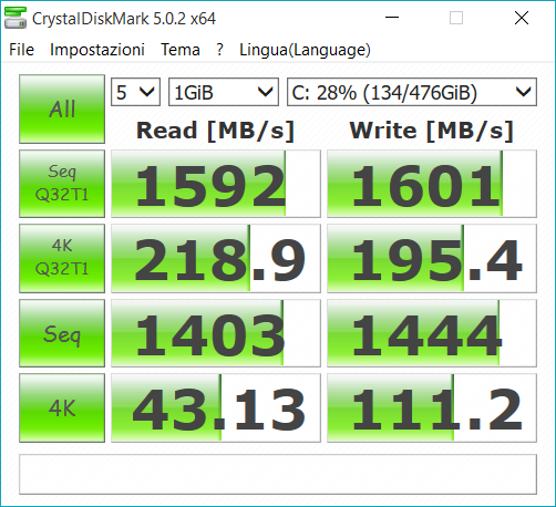 prestazioni ssd 512gb samsung Sm951.PNG