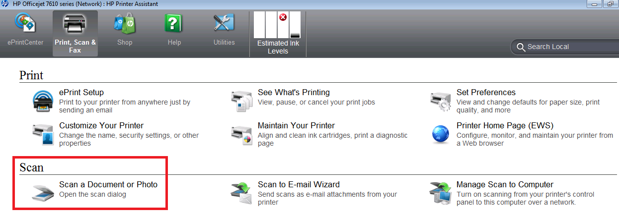 HP officejet 7612 scaning issue - HP Support Community - 5290405