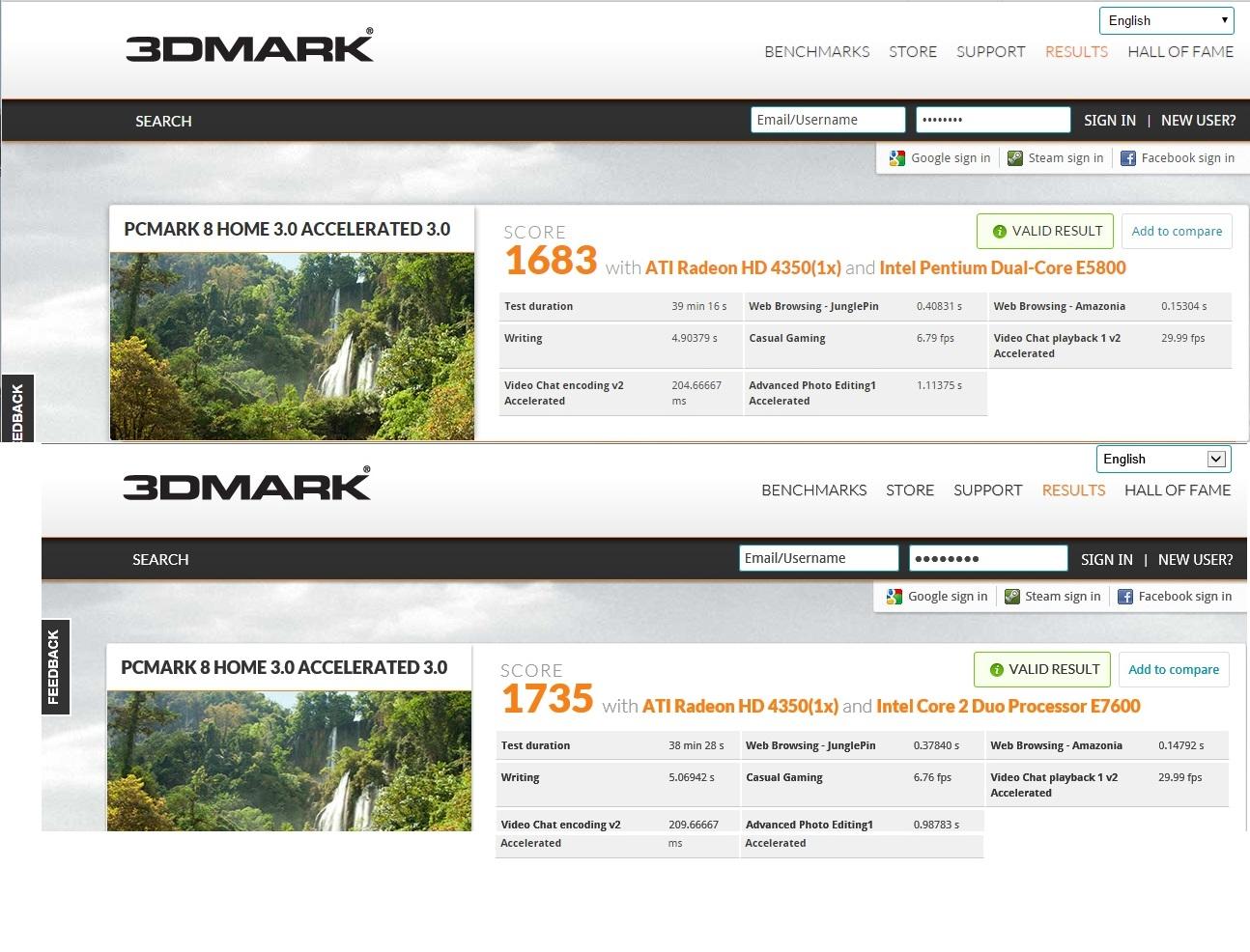 Solved Upgrading From E5200 To E5800 E7600 E8500 And No Mb F Prosesor Pcmark Score
