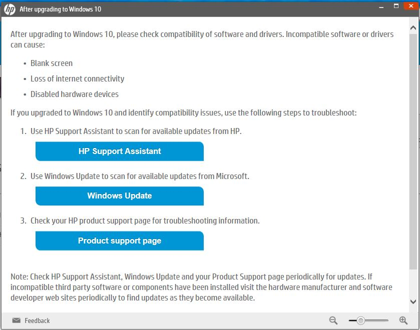 HP Support Assistant Problem And Touchpad - HP Support