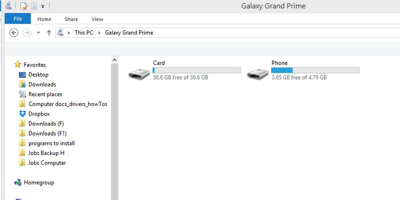 Solved: Transferring photos from Android to HP PC Notebook