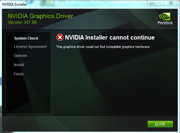 Solved: problem in installing nvidia geforce 820m driver - HP