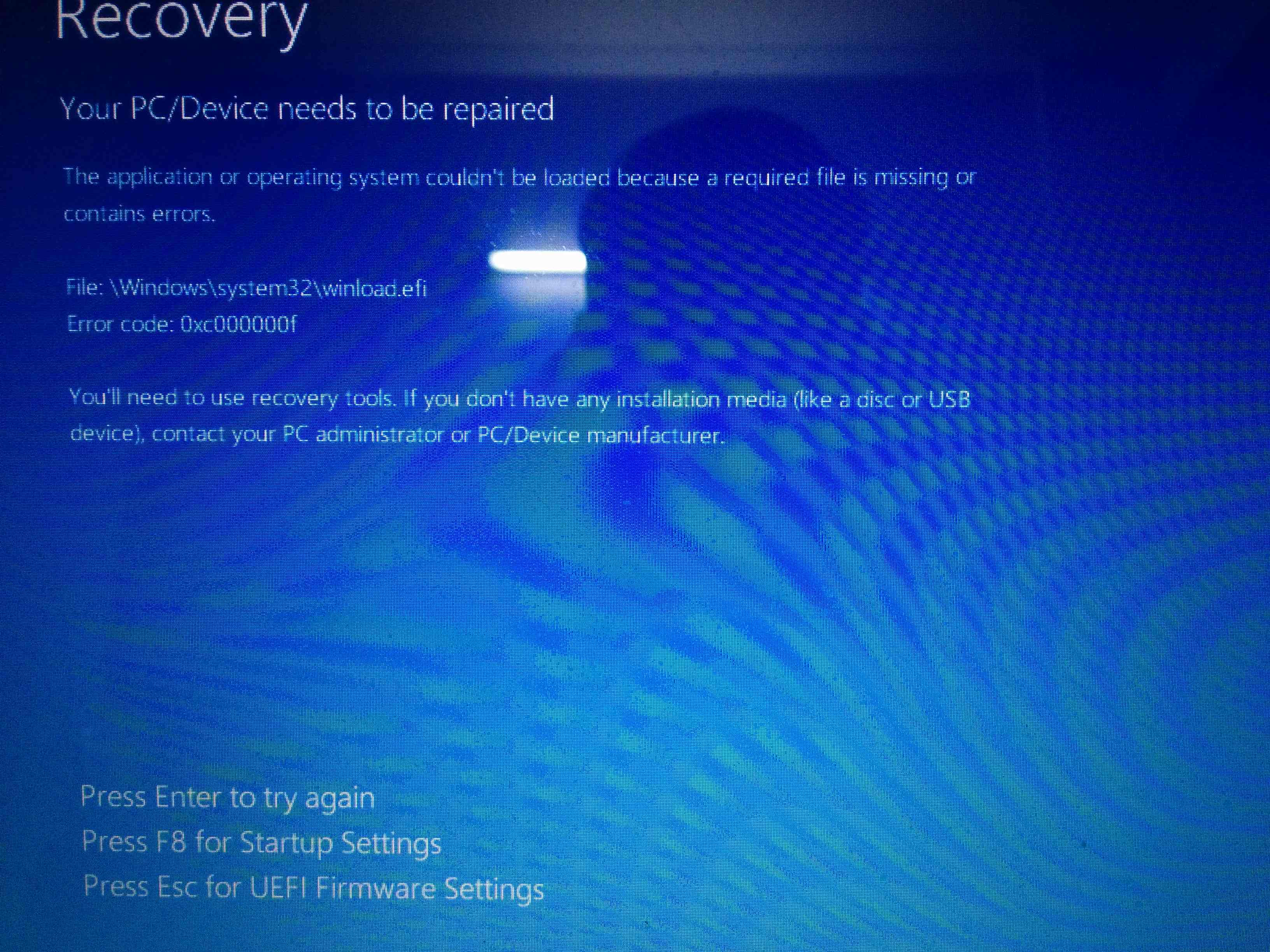 Solved: Blue Screen error while starting - HP Support