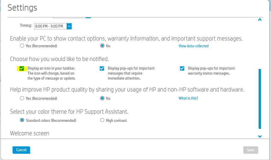HP Support Assistant Settings.PNG
