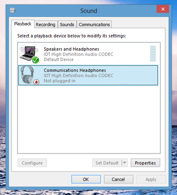 communication headphones not plugged - HP Support Community