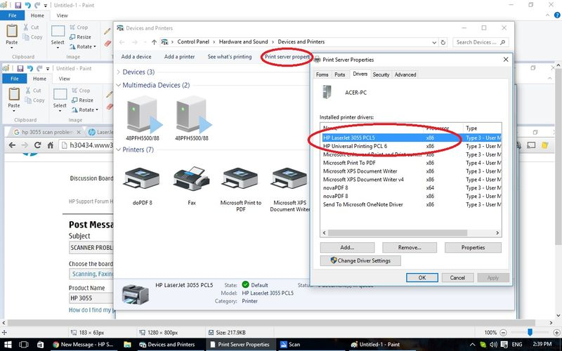 how to connect hp laserjet 1080 with windows 10