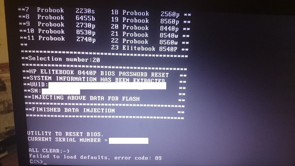 how to clear bios password on hp laptop