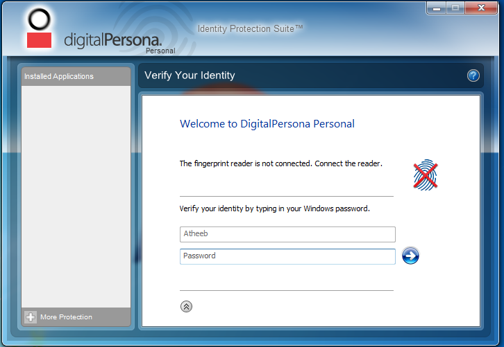 Hp protecttools security manager fingerprint